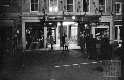 Police outside the Corridor 1974