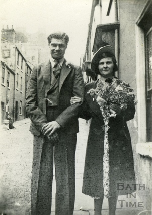 An unidentified couple on Ballance Street c.1953