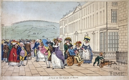 A View of the Parade at Bath c.1787