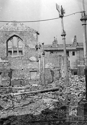The wreckage of the Salvation Army hostel in Railway Road, Bath, April 1942