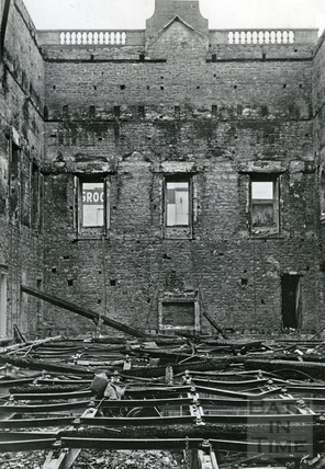 The burnt out ballroom of the Assembly Rooms April 1942