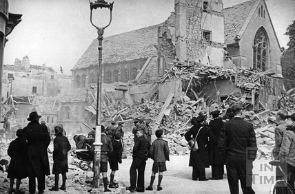 St Marys Roman Catholic church in Julian Road, Bath, April 1942