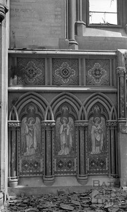 Panels at St Andrews church, Bath, April 1942