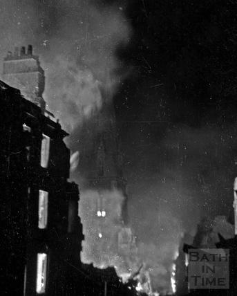 Julian Road ablaze April 25-26 1942