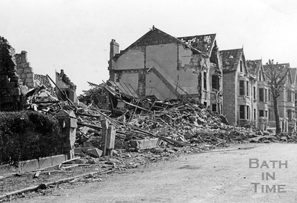 Bomb Damage To Homes In Lower Oldfield Park Bath April 1942 By 18793 At Bat