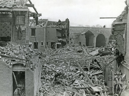 Excelsior Street, the Dolemeads after a stray bomb hit in 1941