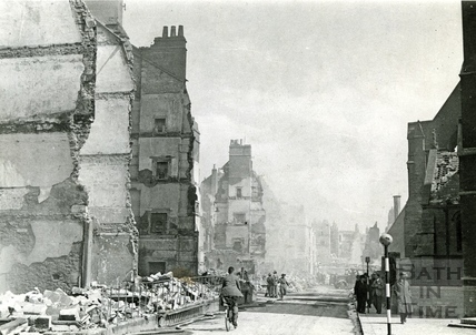 Building remains in Julian Road , Bath, 1942