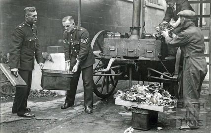 Emergency food from an Army Mobile Field Kitchen, Bath, April 1942