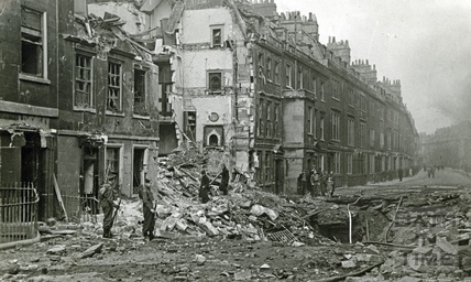 Sunday morning in New King Street after the bombing the night before. April 1942