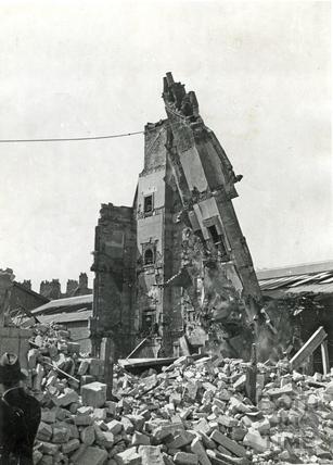 Demolition in James Street West, Bath, April 1942
