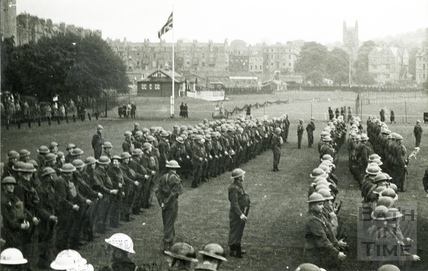 Bath's Home Guard parade on the Recreation Ground, c.1940