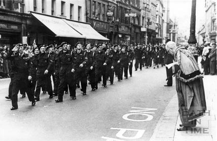 Stand Down Parade, High Street, Bath, June 10 1945?
