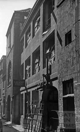 The Mendip Press Building, behind the Mineral Water Hospital April 1942