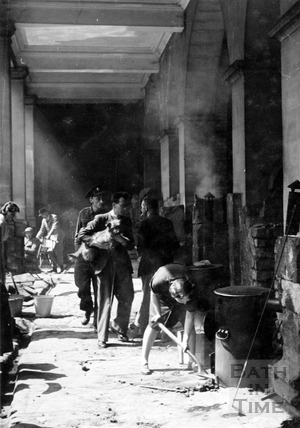 Clearing up after the Bath Blitz, April 1942