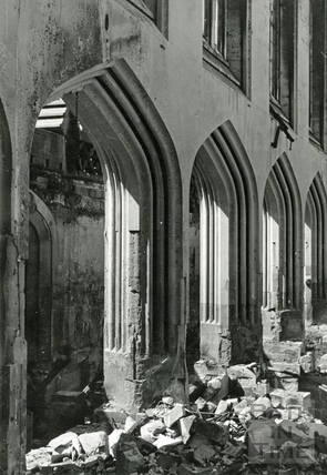 The interior of Holy Trinity Church, James Street West April 1942