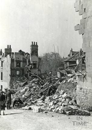 A bombed out scene in the Snow Hill area of Bath, April 1942