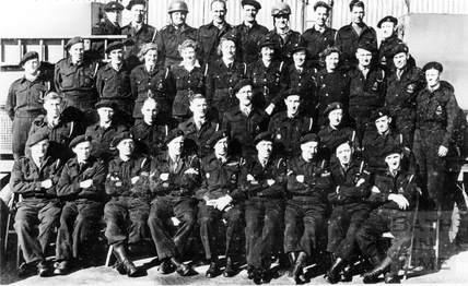 Group V with Ambulance Crews of Casualty Service & DRS, Cross keys Depot Sept 1944