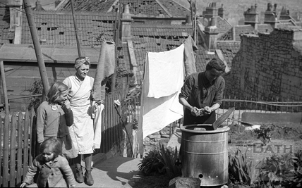 Wartime wash day 1942