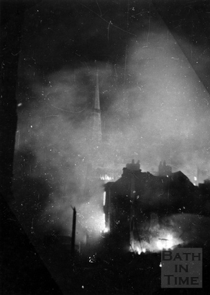 Julian Road on fire April 1942