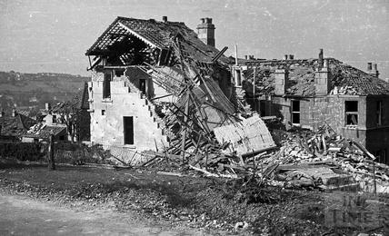 Devastation in Shakespeare Avenue, Bath, April 1942