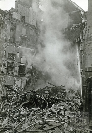 New King Street, Bath after the Bath Blitz, April 1942