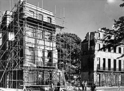 Destruction at the end of Norfolk Crescent, Bath, 1963