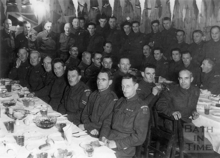 Bath Home Guard Dinner, 1945?