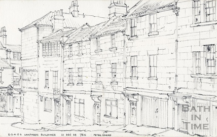 Lampards Buildings, Lansdown, Bath 21 December 1968