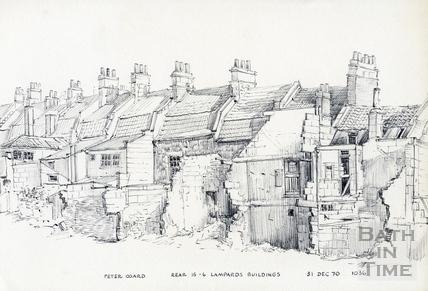Lampards Buildings, Lansdown, Bath 31 December 1970
