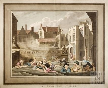 The Pump Bath at Bath. The Kings Bath 1801