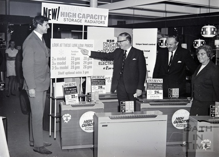 Promoting the NEW SWEBLINE High Capacity Storage Radiators. Date unknown.