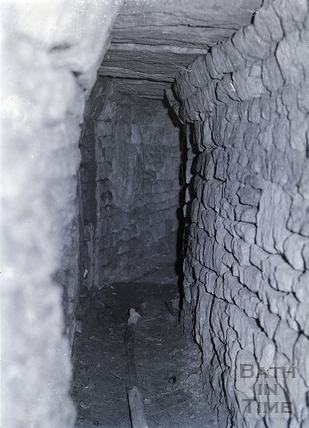 Underground tunnel and water pipe. Date unknown, possibly 1930.