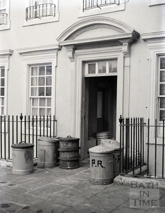 Doorway in Beauford Square, Bath, c.1950s