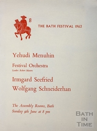 Bath Festival 1963 Programme, price one shilling
