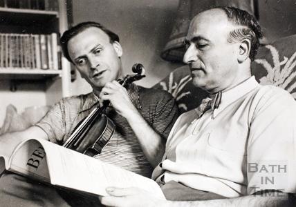 Yehudi Menuhin and Louis Ketner 1961