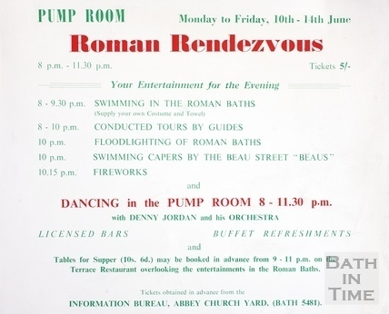 Roman Rendezvous, Pump Room, Mon to Fri 10-14 June 1963