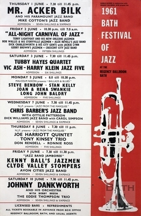 Bath Festival of Jazz June 1961
