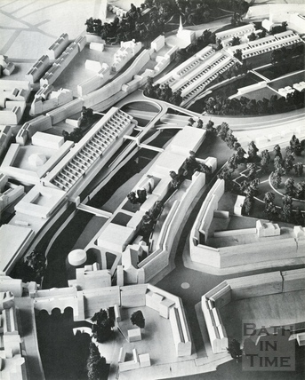 General view of the south west and south east quadrants from the south 1966