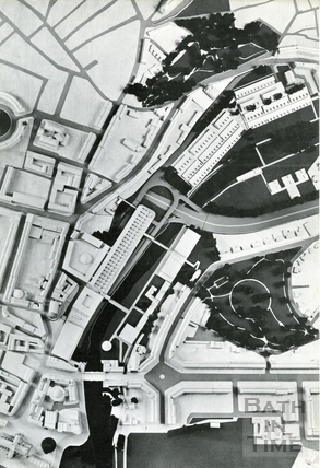 View of the proposals from above the Walcot Street Area 1966