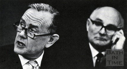 Professor Colin Buchanan and Alderman Berry, Chairman of Baths Planning Committee 1965