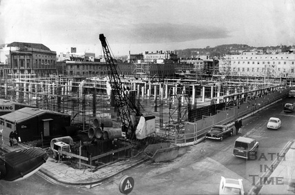 The old Southgate Centre under construction 11 Dec 1972