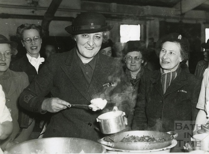 Meals on wheels in Bath May 1948
