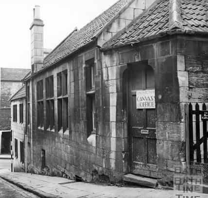 Workman's Rest, Trafalgar Place side, looking towards 21 Holloway, March 1964