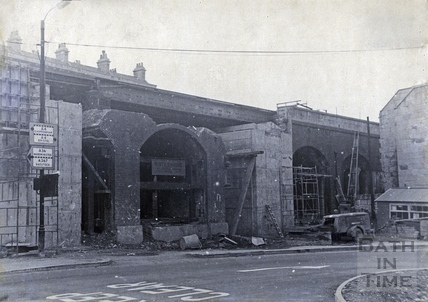 Rebuilding of the railway bridge as part of the Holloway reconstruction scheme c.1965