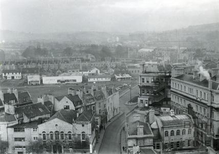 View towards Avon Street and Milk Street c.1955