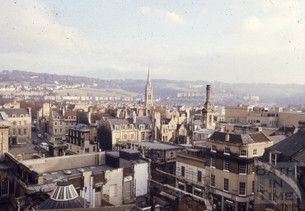 View from the roof or Arlington House towards York Street c.1990