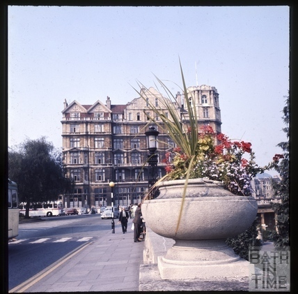 The Empire Hotel and wall to Parade Gardens c.1975