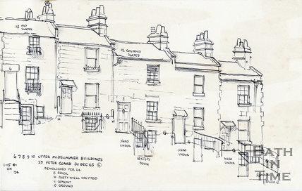 Midsummer Buildings, Fairfield Road, Bath 30 December 1963