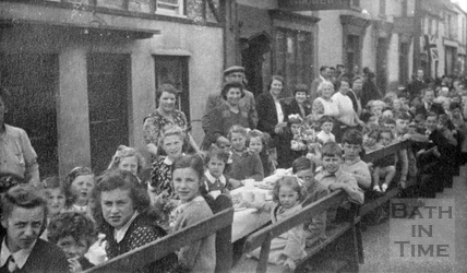 A post war celebration in an unidentified street c.1945
