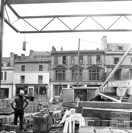 The Beaufort Hotel site looking across to Walcot Street March 1972